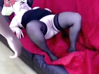 Grannie Deep Throats Big Black Cock