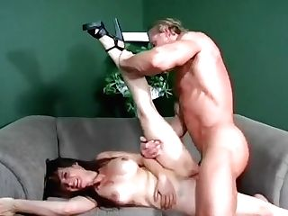 A Petite Chick Gets Used Like A Tool By A Muscular Stud With A Big...
