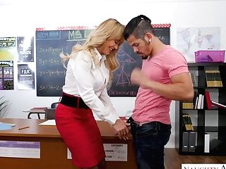 Horny Bosomy Educator Brandi Love Gives A Suck Off To Her Dearest...