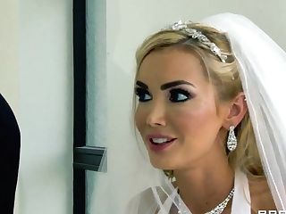 Provoking Blonde Devon Entices Her Hubby At The Marriage