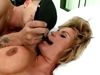 Huge-boobed Blonde Officer Lets This Lucky Fellow Fuck Her