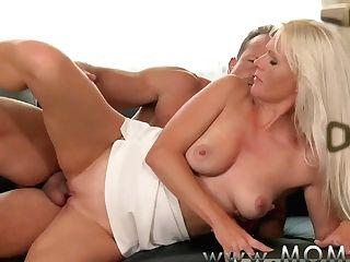 Mom Blonde Mummy Gets Fucked Hard