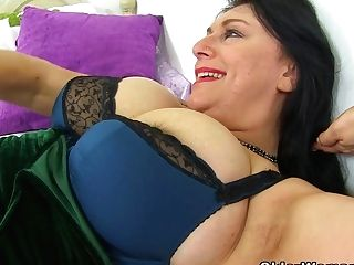 English And Big Titted Mummy Sabrina Needs A Fake Penis Fucking