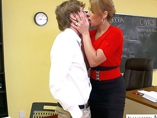 Mind Throating Quickie With Hot Blooded Huge-chested Lecturer...