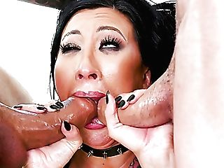Giant Jugged Black-haired Hoe Lily Lane Gets Well-lubed Crevasses...