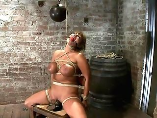 Old-school Hogtiedbig Titted Mummy In The Chairorgasm After Orgasm...
